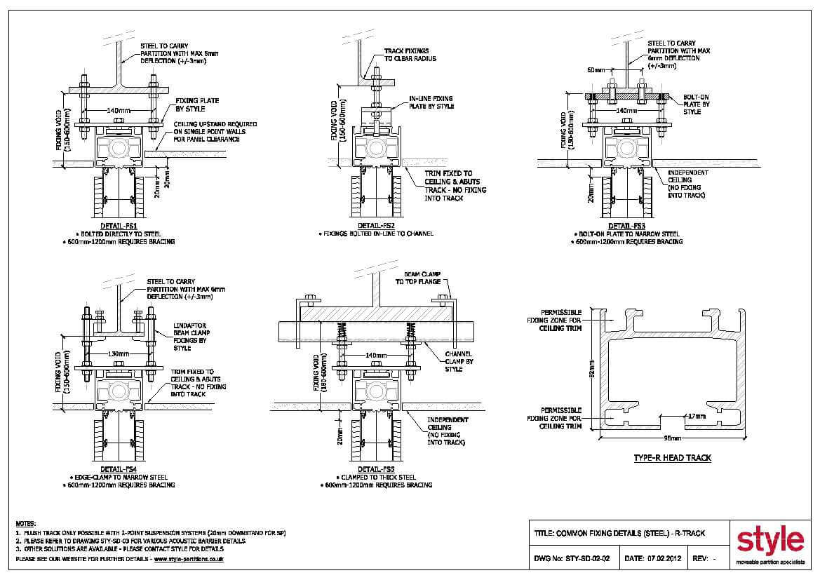 CAD Drawings » Style Moveable Partition Specialists - the