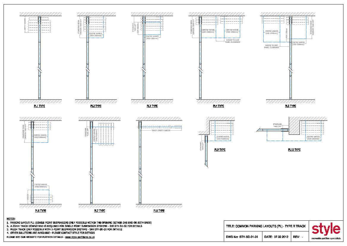 CAD Drawings » Style Moveable Partition Specialists - the moving