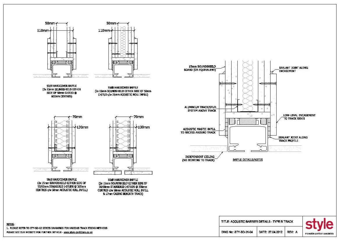 Cad Drawings 187 Style Moveable Partition Specialists The